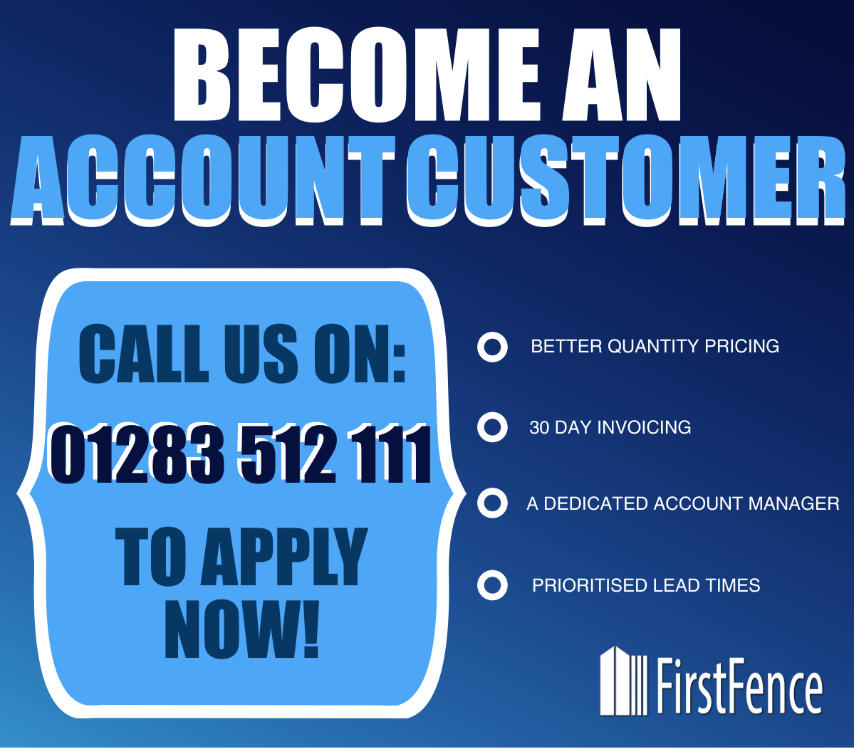 Become an Account Customer