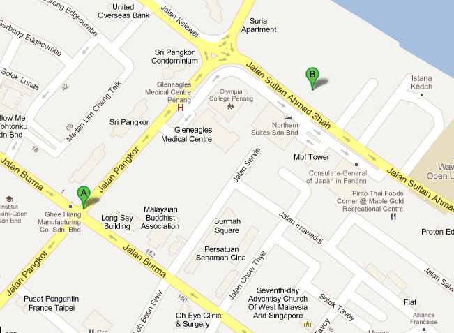 Penang Food Court Location