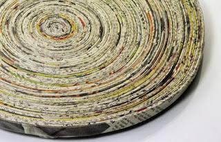 recyclage de papier journal pour déco tendance