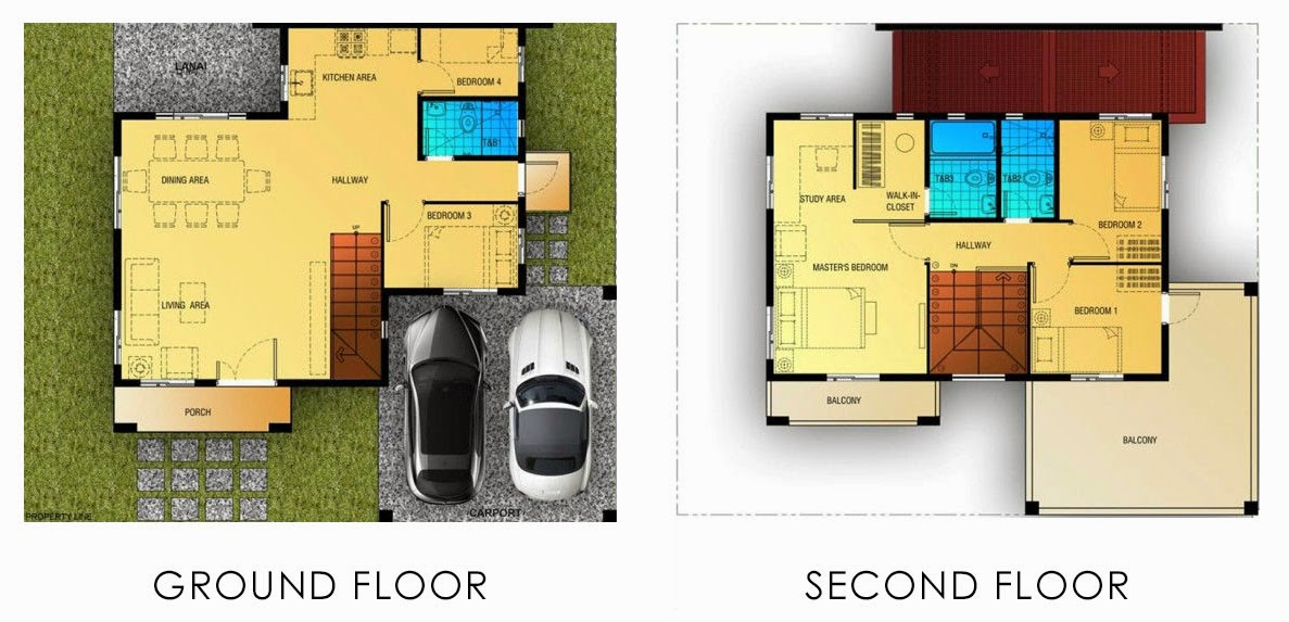 Floor Plan of Gavina - Camella Belize | House and Lot for Sale Dasmarinas Cavite