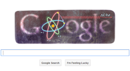 Google Doodle on Niels Bohr's 127 Birthday
