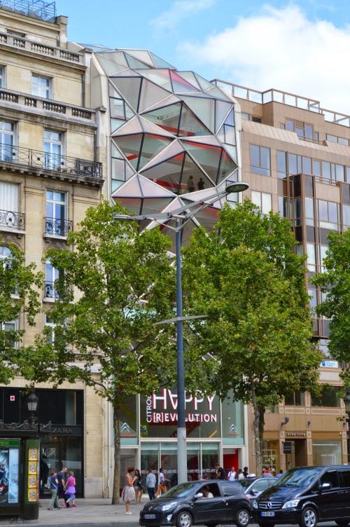 avenue, champs elysées, paris, france, house, modern