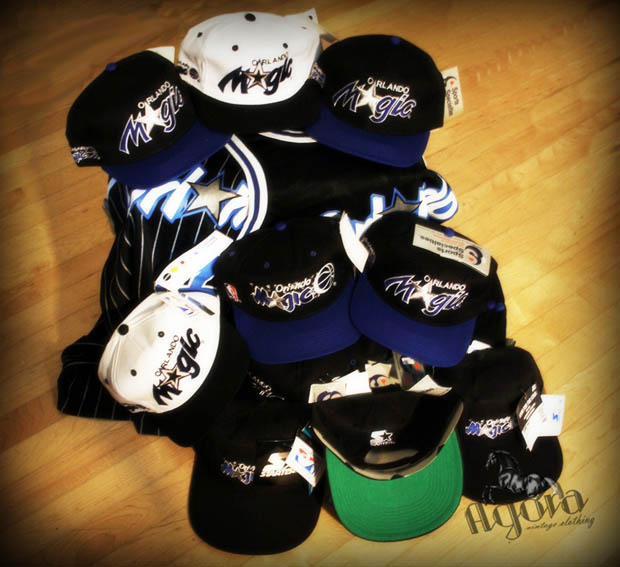 50299d20b01 1990s Orlando Magic Script Snapback Shrine