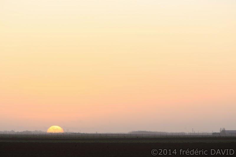 matin lever soleil camion Seine-et-Marne