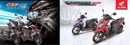 Adu Cepat Yamaha GT125 vs Honda Vario 125