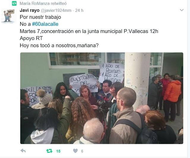 Ante la agresión de Ahora Madrid a los trabajadores