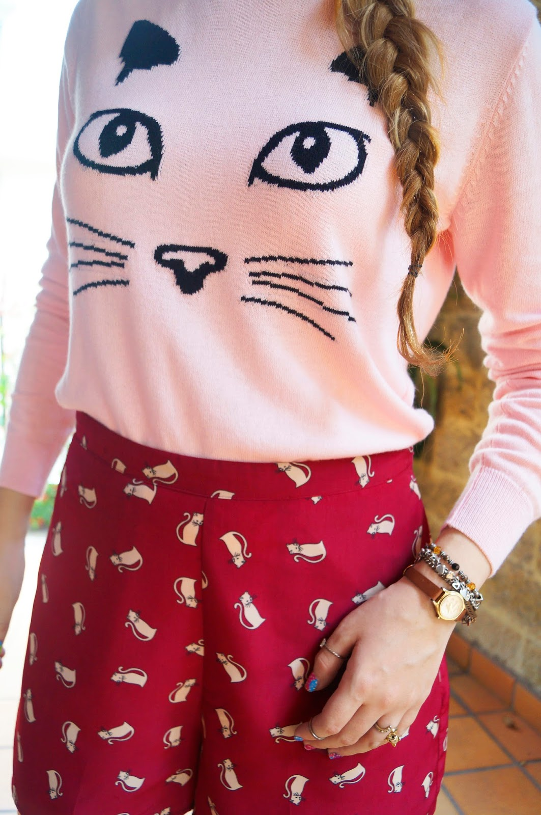 Cat Top, Cat Sweater, Casual Outfit