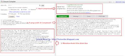 memperkecil size javascript yang direkomendasikan google