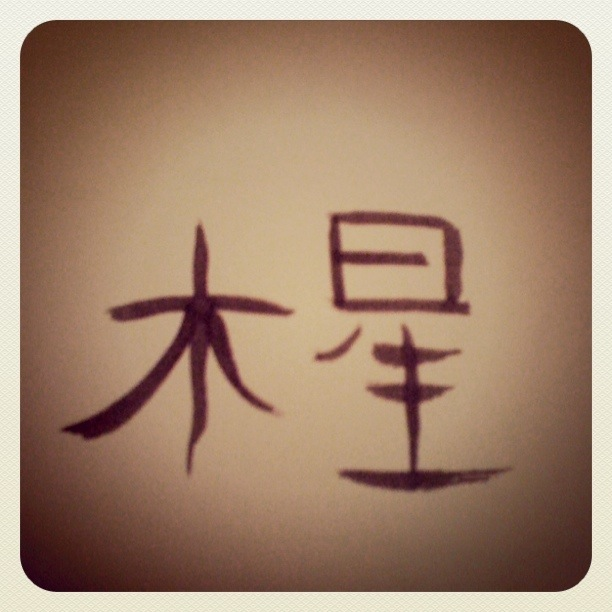 Charmed Earth Something Calligraphy Chinese