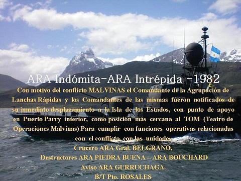 ARA   Indómita  1982  ARA Intrépida 1982