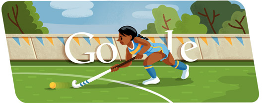 Google Doodles - Olympic Field Hockey 2012