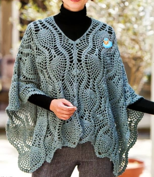 Free Crochet Pattern Ladies Poncho : Crochet Shawls: Crochet Poncho Pattern - Sophisticated
