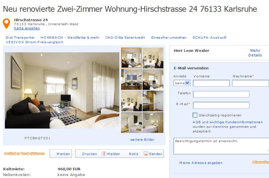 Zimmer Wohnung Karlsruhe Innenstadt