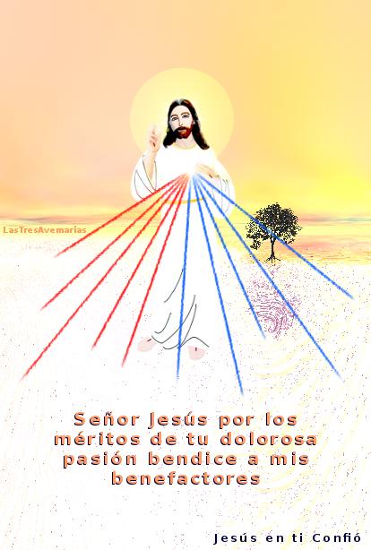 imagen divina misericordia por los benefactores