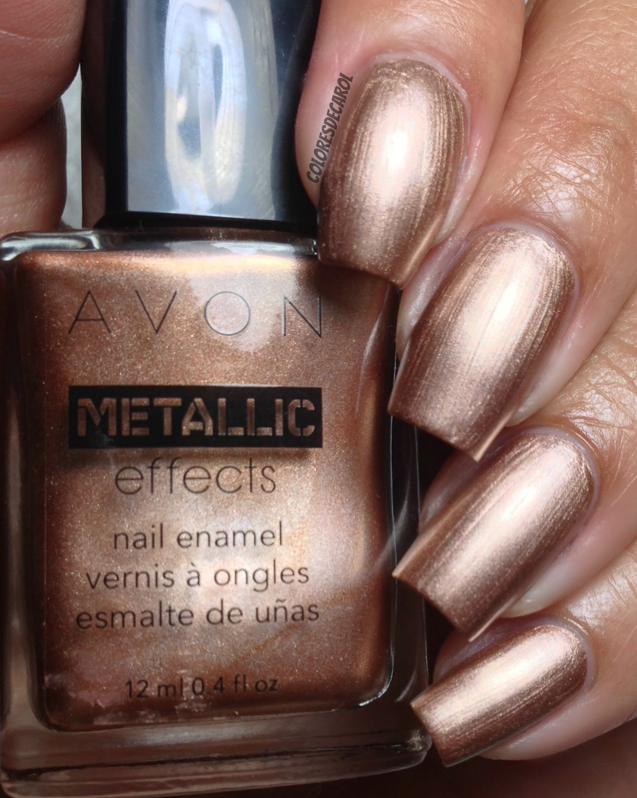 Colores de Carol: Avon Metallic Effects, Swatches and Review