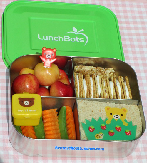 Here Is A Quick And Easy Bento Lunch Packed In Our LunchBots Quad
