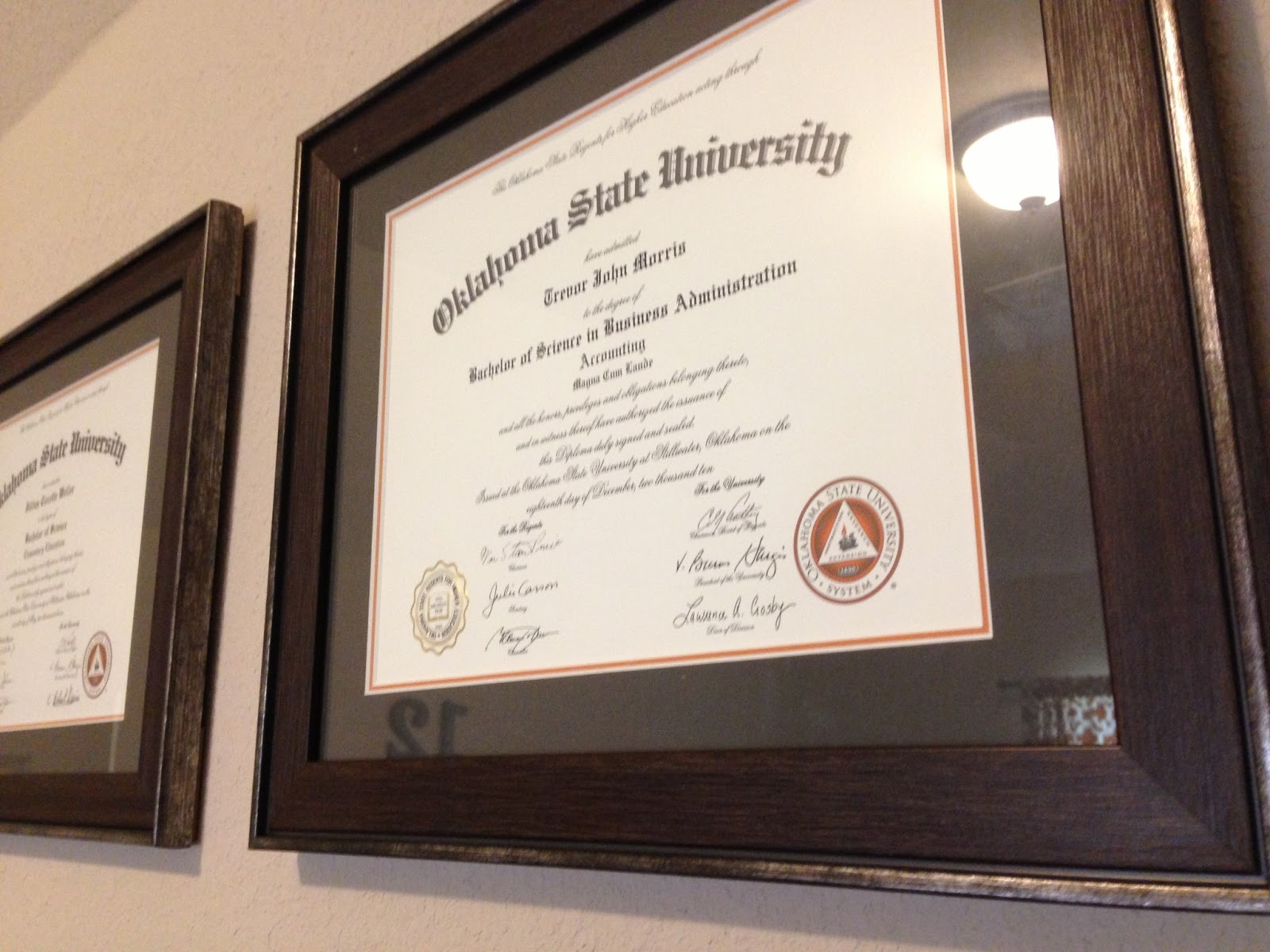 Perfect Certificate Frames With Mat Composition - Framed Art Ideas ...