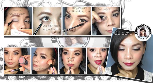 Langkah langkah Makeup Bagian Mata, Pipi dan Bibir