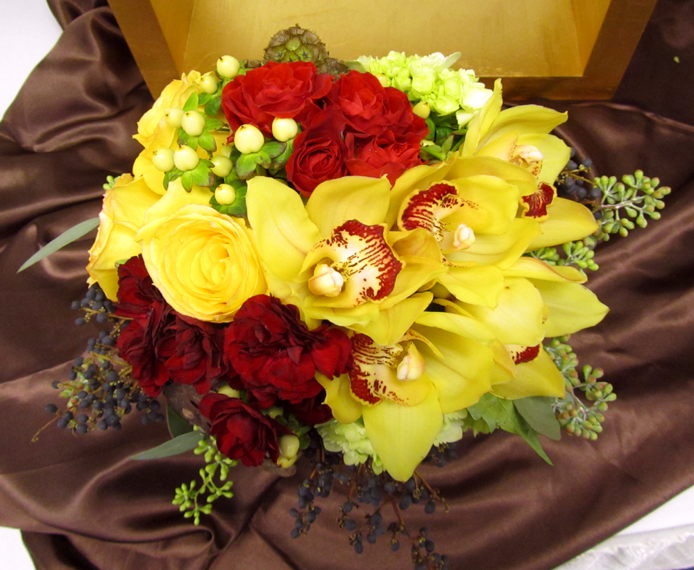 Wedding Flowers Red And Yellow : Dodge the florist