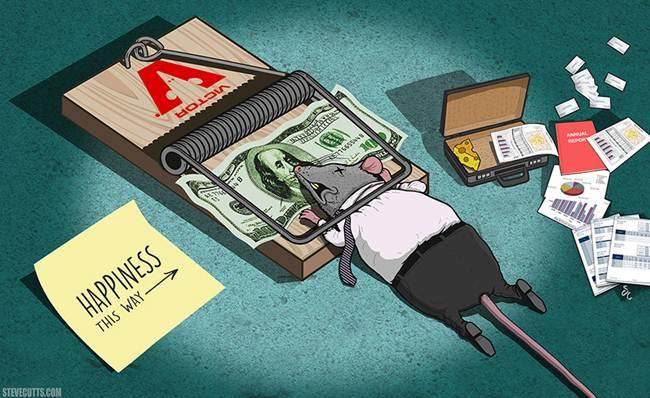 bani capcana spre fericire