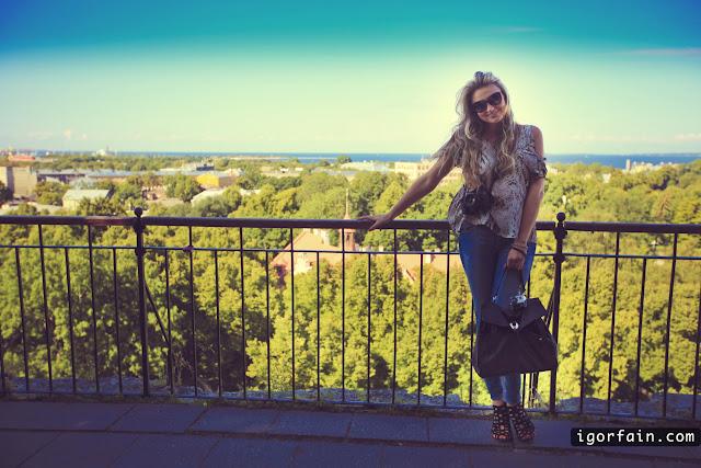 View on the Old Town from the Toompea Hill estonia tallinn victoria igor fain