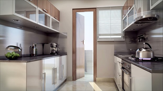 A well designed Modular Kitchen in SHRI Radha SkyGardens Noida Extension
