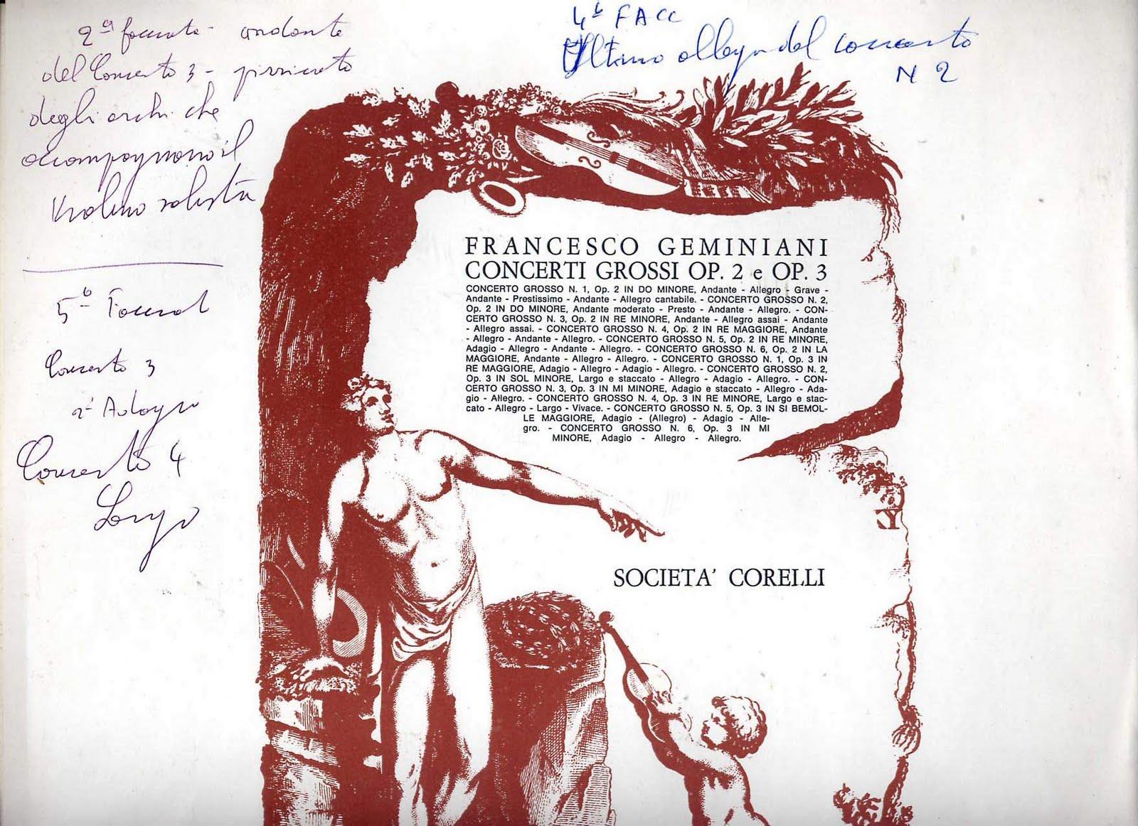 Francesco Geminiani - Chiara Banchini - Concerti Grossi • Composti Sull'opera V D'Arcangelo Corelli
