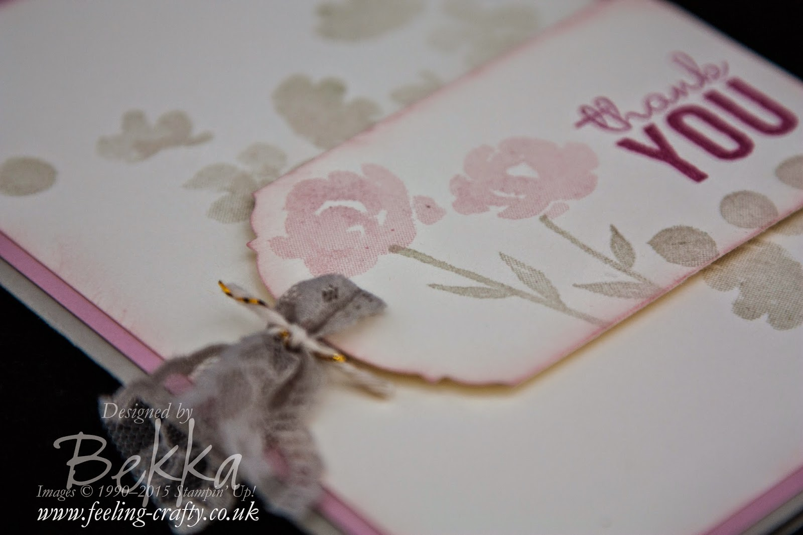 Vintage Painted Petals Ornate Tag Card