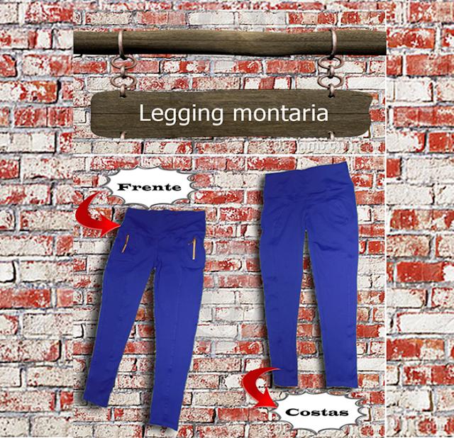 Legging montaria Azul