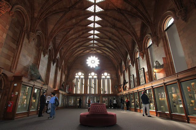The interior view of Smithsonian Castle in Washington DC, USA