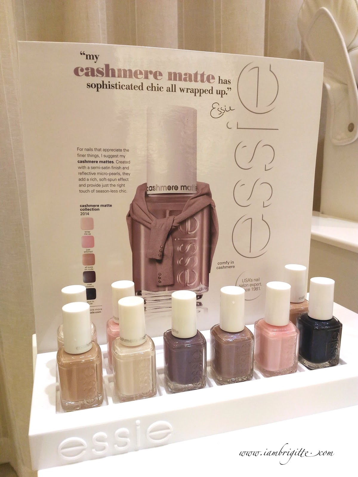 IAMBRIGITTE : Essie Cashmere Matte Nail Polish Collection