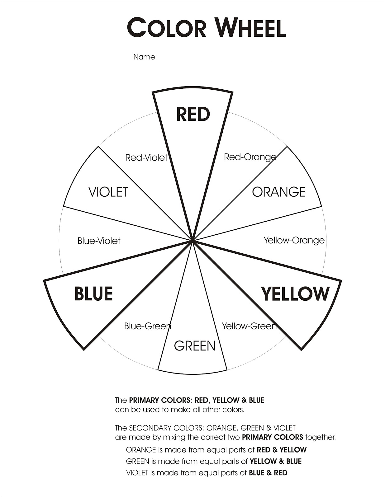 Colour Theory Worksheet | Color Wheel Worksheet Lesson Plan