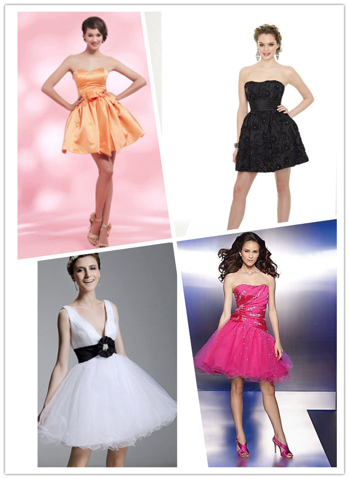 short ball gown cocktail dresses