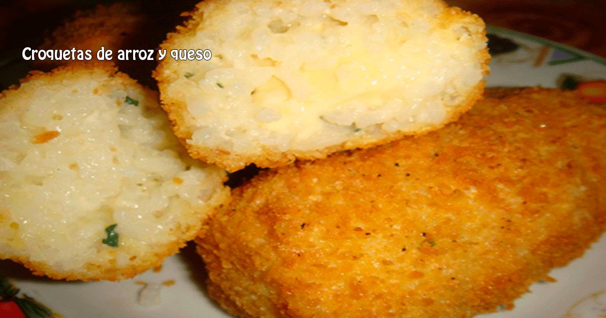 Croquetas de arroz y queso - Recetas fáciles