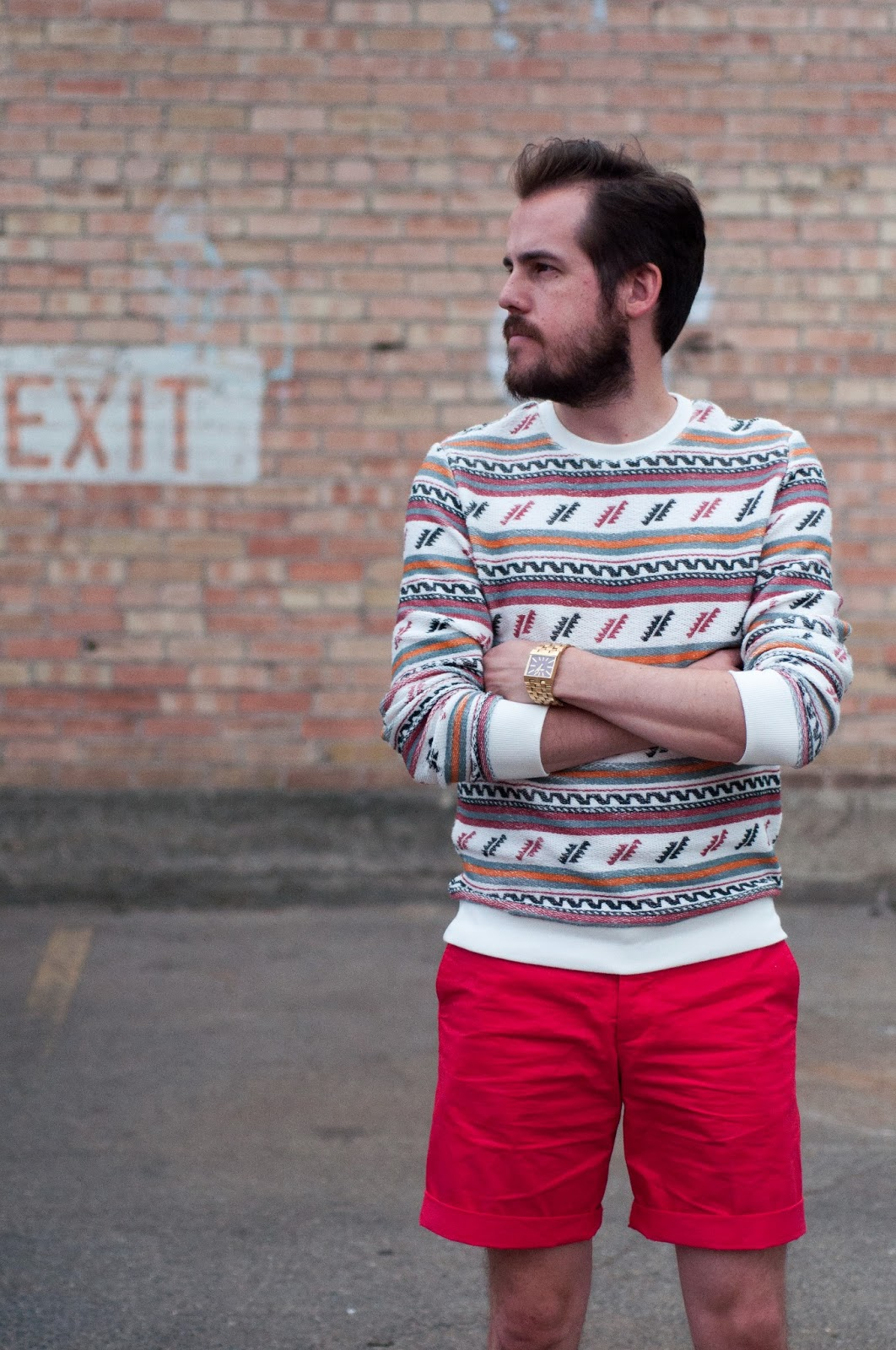 style, style blog, fashion blog, fashion blogger, jcrew style blog, ootd, jcrew ootd, topman ootd, topman aztec sweater, topman, h and m, h and m mens shorts, sperry topsider, sperry topsider mens boat shoe, sperry topsider authentic boat shoe, oatmeal, oatmeal boat shoe, nixon, gold watch, nixon gold watch, nixon ticket, nixon gold ticket, jcrew, jcrew button up blouse, polka dot shirt, polka dots, citizens of humanity, waxed jeans, leather jeans, fendi, fendi runway 2013, fendi runway shoes, fendi runway spring 2013, fendi layered pyramid stud pump, fendi ankle strap bootie, fendi ankle strap spiked bootie, karen walker, karen walker sunglasses, karen walker soul club, karen walker soul club sunglasses, soul club, louis vuitton, crossbody bag