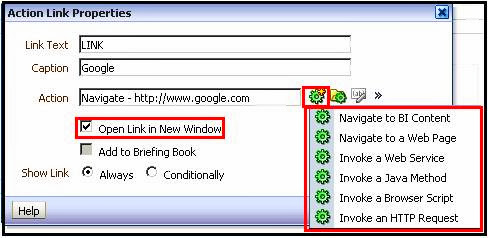 Action Links in OBIEE 11g