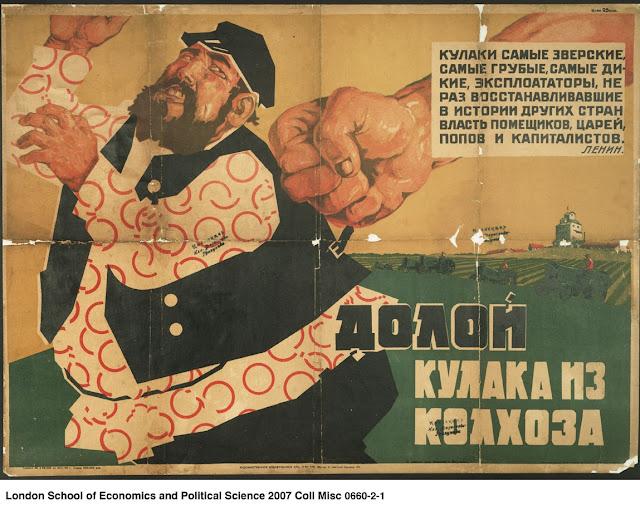 Desmontando la leyenda negra de la URSS Cartel%2Bde%2B1920%252C%2Bcon%2Bel%2Bt%25C3%25ADtulo%2Bde%2BFuera%2Blos%2Bkulaks