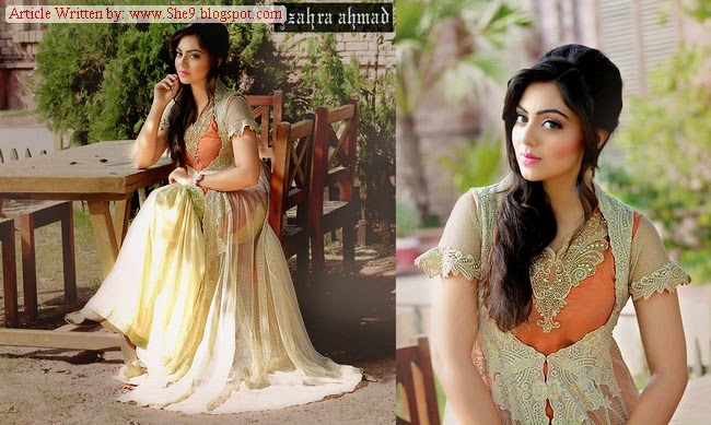 Latest Zahra Ahmed Dress Designs