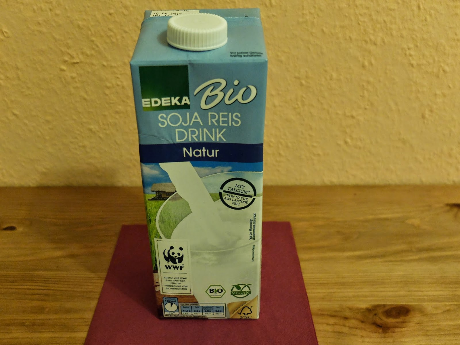 Edeka Soja Reis Drink Bio Natur