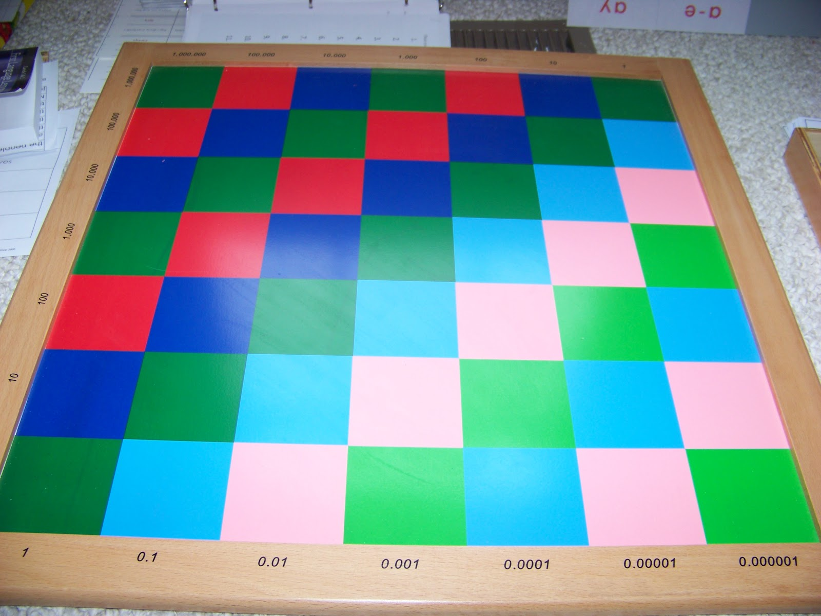 Math Board Game (decimal Place free worksheets on fractions mixed ...