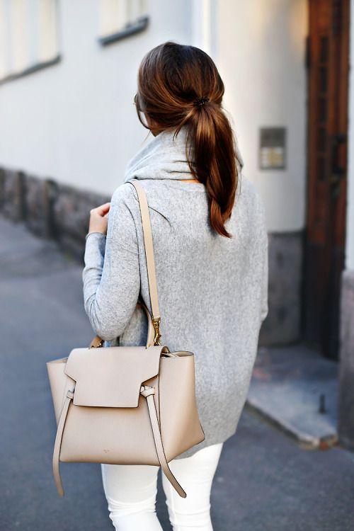 Mariannan - Neutrals, Knit, White Jeans, Celine Bag