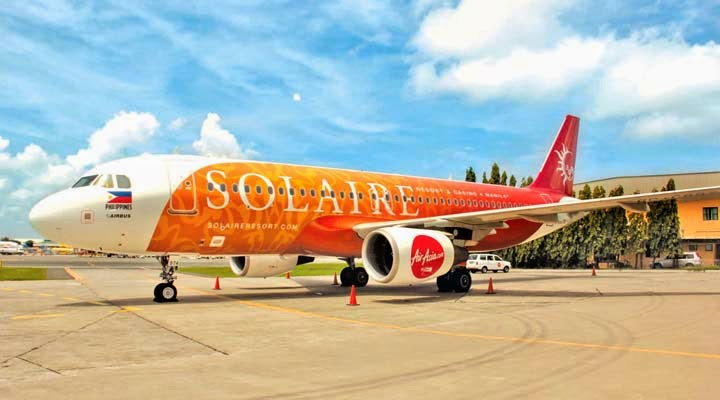 Air Asia Unveils Solaire Branded Aircraft