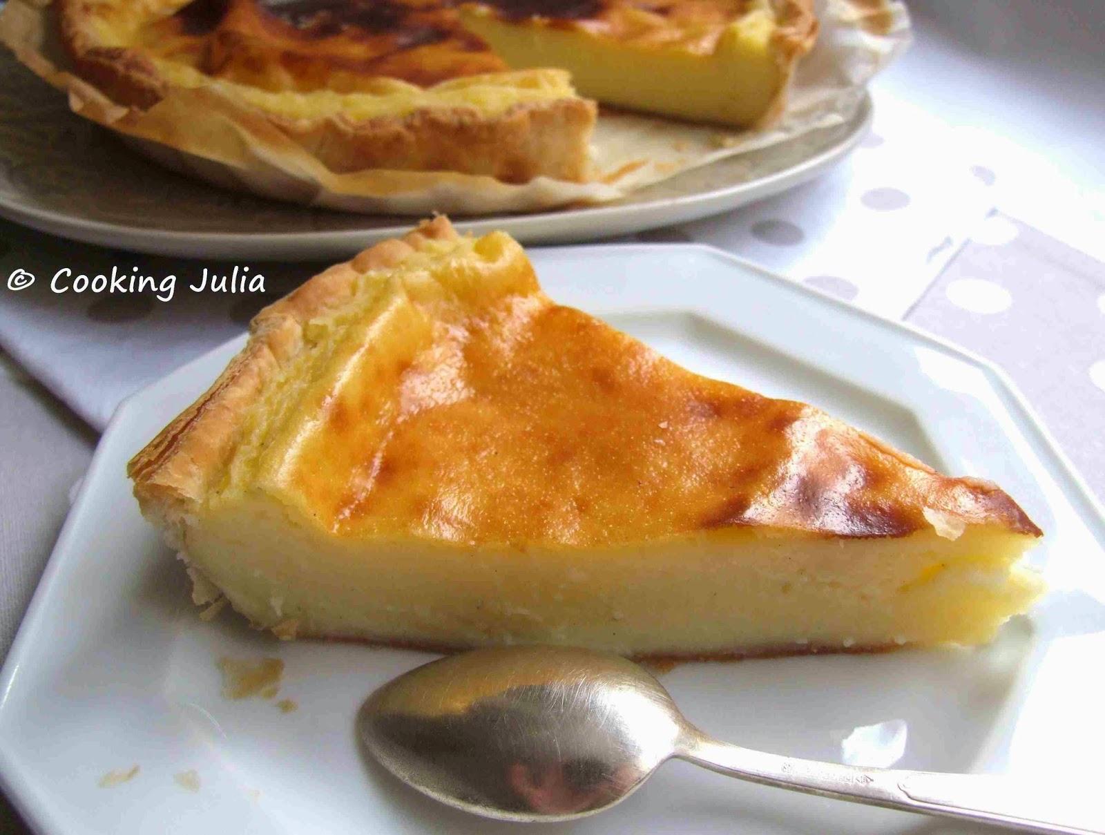 cooking julia tarte au flan. Black Bedroom Furniture Sets. Home Design Ideas