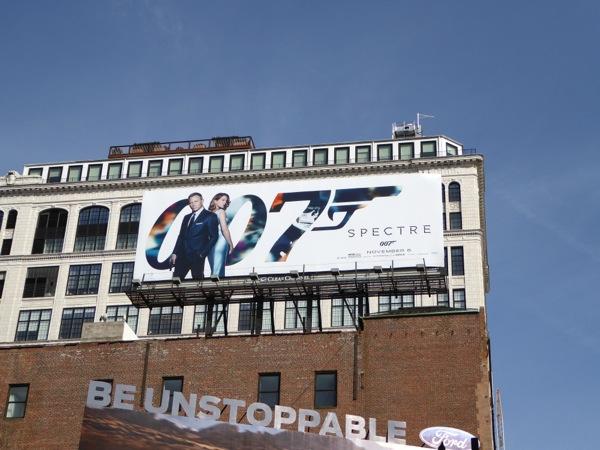 007 Spectre film billboard