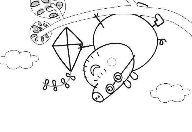 Dibujos de Peppa para Colorear, parte 3