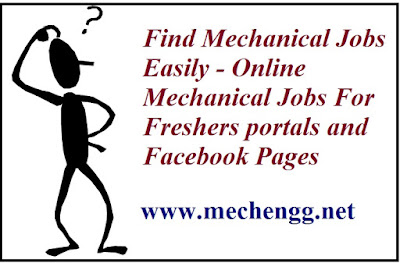 Online Mechanical Jobs For Freshers portals and Facebook Pages