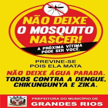 GRANDES RIOS - Campanha não deixe o mosquito nascer