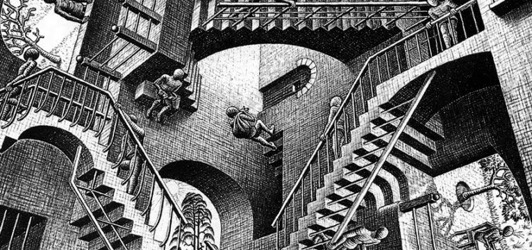 Iad in moscow maurits cornelis escher moscow exhibition for Escher metamorfosi