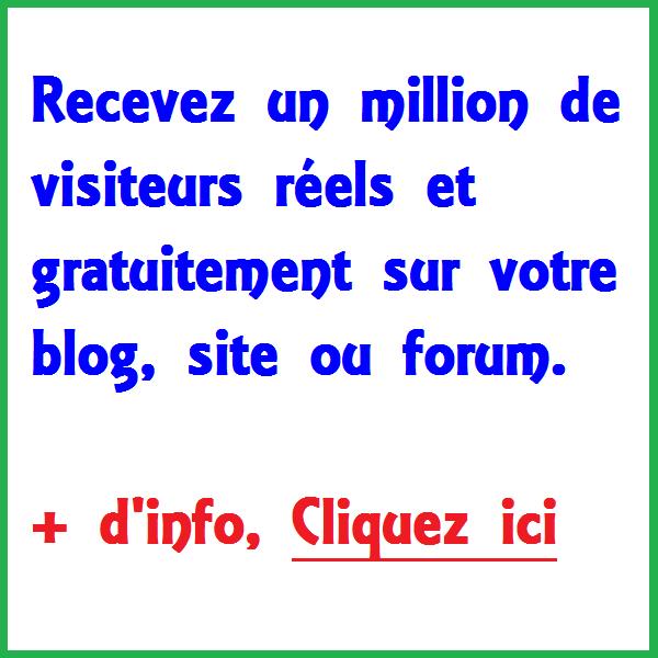 Jusqu'a 10 000 000 visiteurs FREE