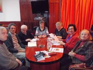 Ioana Stuparu, Elisabeta Iosif, Delia Stăniloiu, Doina Bârcă, Cornel Balaban, eu și C-tin Mironescu